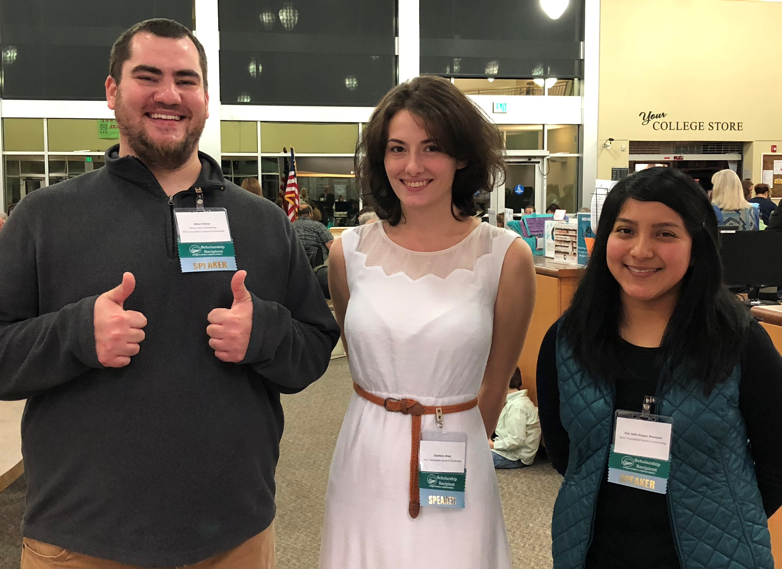 Student speakers at the 2018 Donor and Scholar Recption