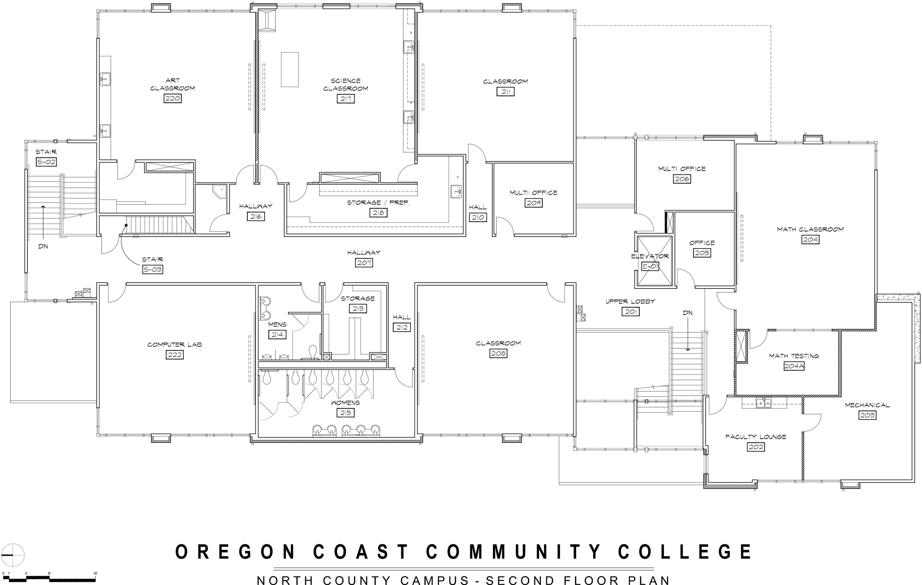 Western Oregon Campus Map.Floor Plan Maps Oregon Coast Community College